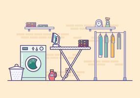 Illustration de salle de lavage vecteur