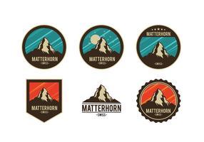 Badge matterhorn vecteur gratuit