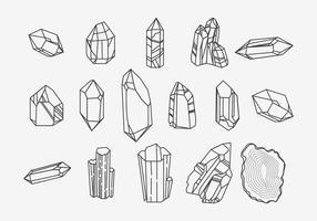 Vecteur icône ligne quartz