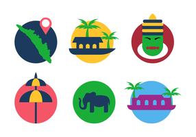 Vecteur icône plate de kerala
