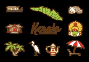 Vecteur d'icônes de Kerala