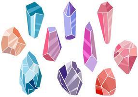 Vecteurs de minéraux libres vecteur