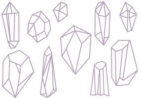 Vecteurs de cristaux gratuits vecteur