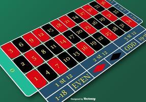 Vector American Roulette Table pour tout projet