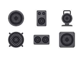Vecteurs de grille de haut-parleur gratuits vecteur