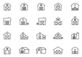 Vecteurs de grange gratuits vecteur