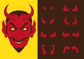 Lucifer et différentes cornes de diable vecteur