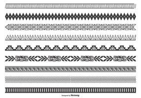Collection de bordure vectorielle décorative vecteur