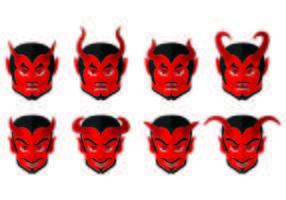 Ensemble d'icônes de Lucifer