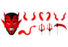 Ensemble d'icônes de Lucifer vecteur