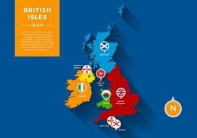 British Illates Map Infographic Free Vector