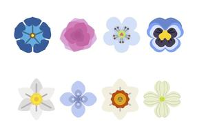 Vecteurs de fleurs plates