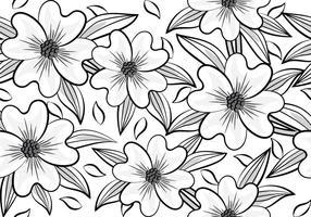 Foret de fleurs vecteur