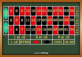 Table de roulette vectorielle pour tout projet
