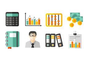 Vecteur gratuit d'icônes de comptabilité
