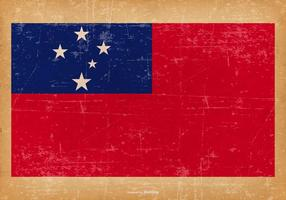 Drapeau grunge de Samoa vecteur