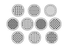 Vecteurs de collection de grille de haut-parleur gratuits