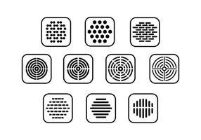 Vecteur de collecte de grille haut parleur gratuit