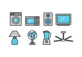 Icônes électroniques à la maison