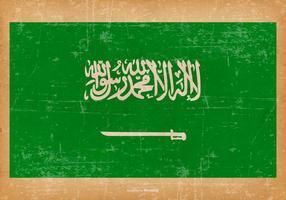 Drapeau grunge de l'Arabie Saoudite vecteur