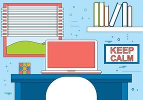 Illustration de bureau de concepteurs de dessins plats gratuits vecteur