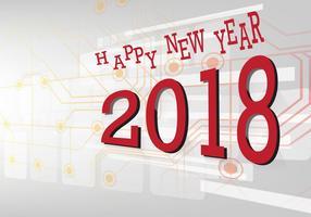 Bonne année 2018 vecteur