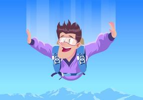 Parachutisme automnal sans vecteur