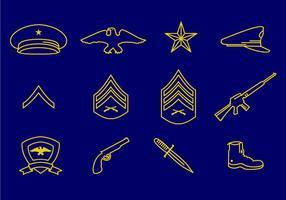 Vecteurs des corps marins américains