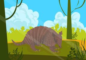 Armadillo In The Jungle Vector