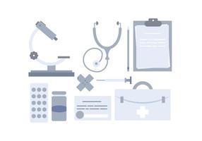 Ensemble d'objets médicaux vectoriels vecteur