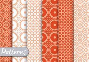 Ensemble de motifs Orange Ornamet vecteur