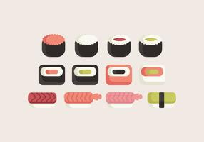 Collection Sushi Sushi vecteur
