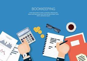 Illustration de la comptabilité vecteur