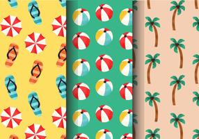 Motifs de vacances d'été vintage gratuits vecteur