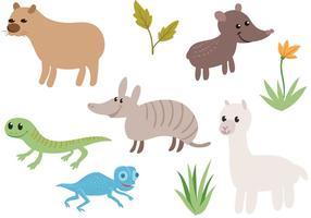 Vecteurs d'animaux sud-américains gratuits vecteur