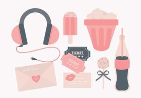 Collection Vector Cute Objects
