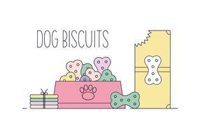Vecteur de biscuit de chien gratuit