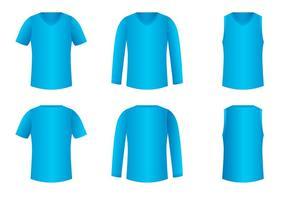 V-neck shirt template vecteur gratuit