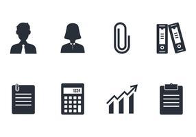 Ensemble d'icônes comptables vecteur