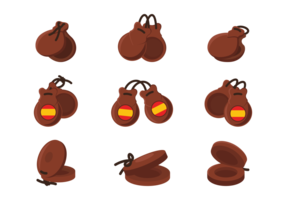 Vecteur d'icônes de castagnettes