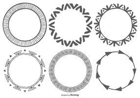Collection de cadres vectoriels style style Boho à la main vecteur