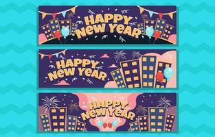 bannière de fête de nuit pour le nouvel an