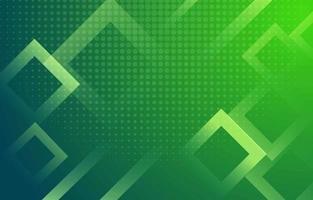 fond vert avec carré et points décolorés vecteur