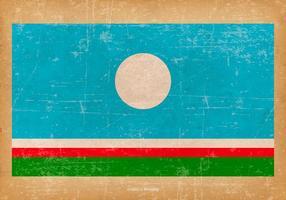 Drapeau grunge de la République Sakha vecteur