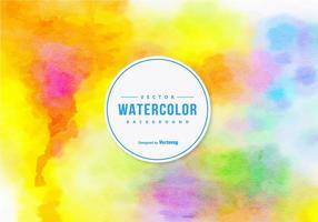 Fond d'aquarelle coloré vecteur