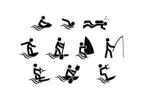 Vecteur libre d'icône de sport aquatique