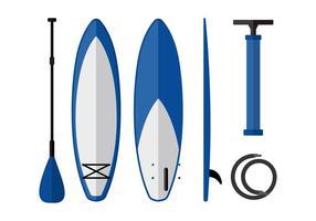 Matériel de paddle board free vector