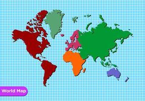 Carte mondiale vecteur gratuit