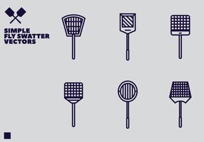 Vecteur swatter mouche libre