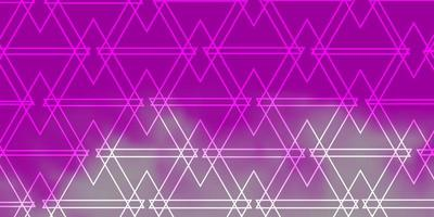 motif rose avec un style polygonal.